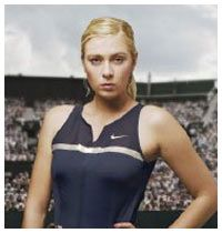 Sharapova'nın farklı yüzü