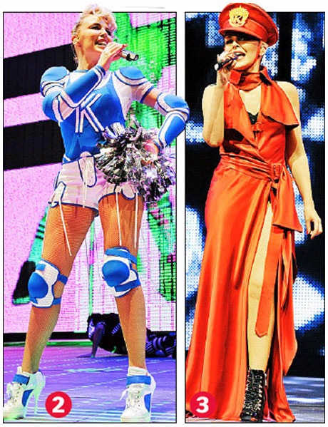Kylie ve Gaultier Elbiseleri