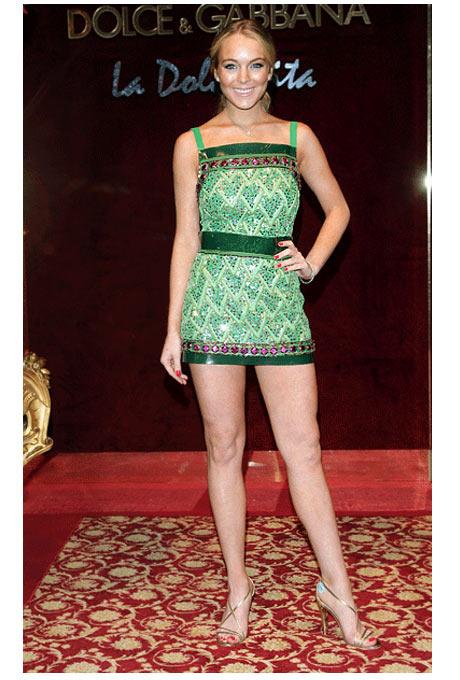Lindsay Lohan Dolce&Gabbana