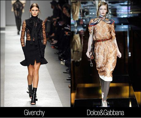 2008 Sonbahar Modası Dantelli Elbiseler