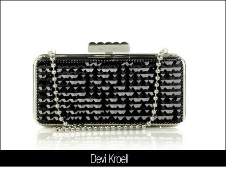 Devi Kroell Siyah Boncuklu Çanta