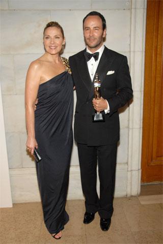 Kim Cattrall Monique Lhuillier Elbisesi, Tom Ford ise kendi tasarım takımı ile