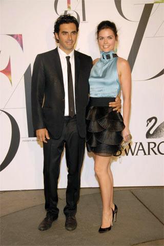 Yigal Azrouel\'den Mavi Siyah Elbise