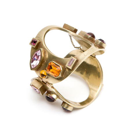 Christian Dior - Ametist, toaz ve Swarovski kristali detaylı eskitme bileklik