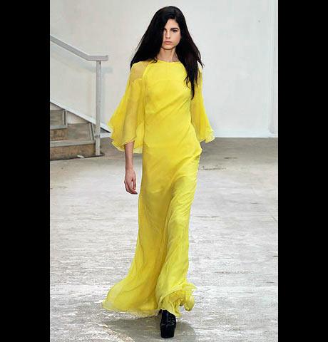 Antonio Berardi Transparan Kollu Uzun Elbise