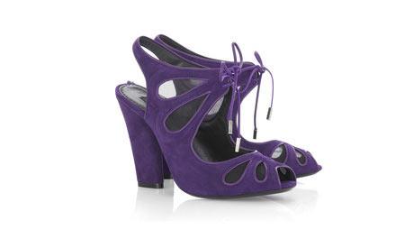 Marc Jacobs - Kelebek desenli mor ayakkabı