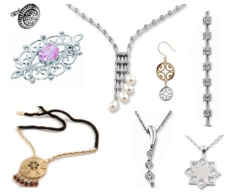 Mücevher yüzük, gerdanlık, broş, kolye, kravat iğnesi, kol düğmesi, kolye ucu