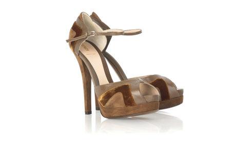 Fendi - Süet ve deri platform ayakkabı