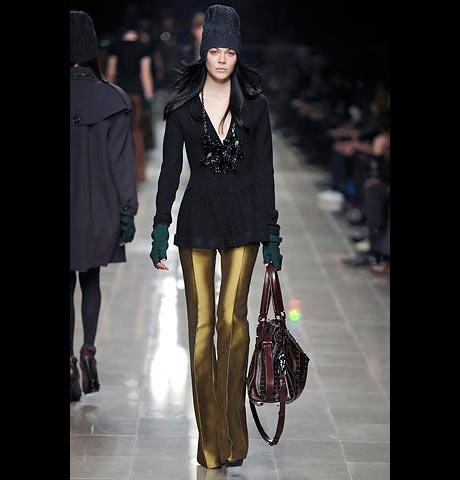 Burberry Prorsum Altın Sarısı Bayan Pantalon