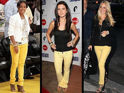 sarı kot pantalon
