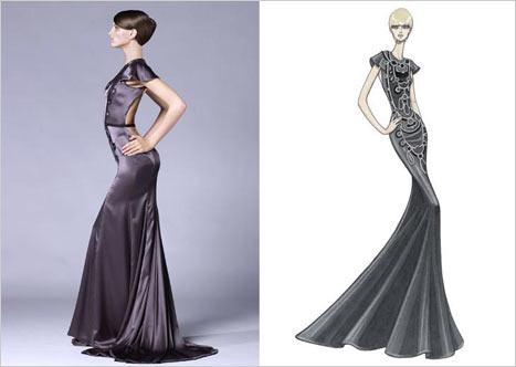 Versace Sırt Dekolteli Elbise modeli