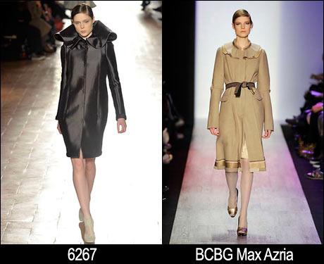 Siyah parlak palto, bej palto