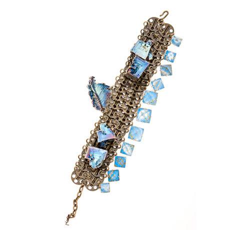 Yves Saint Laurent - Kristal ve çelik kolye