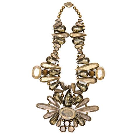 Nina Ricci - Yarı değerli taşlardan galvanize metal kolye