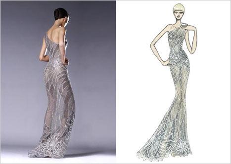 Versace Transparan Elbise