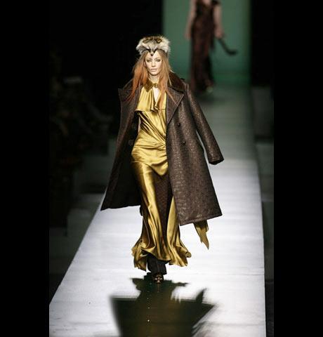 Jean Paul Gaultier Altın Sarısı Uzun Abiye