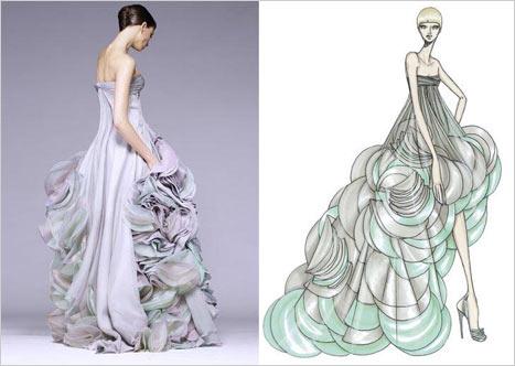 Versace Kabarık Gece Elbisesi