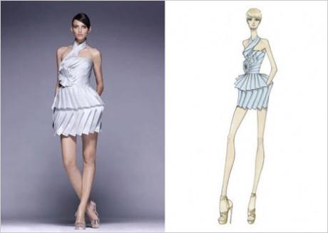2008 Versace Sonbahar Gece Elbiseleri Koleksiyonu