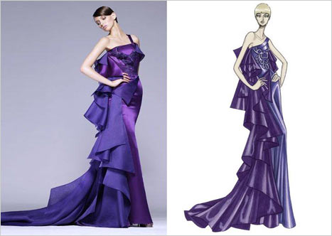 Versace Yandan Askılı Elbise