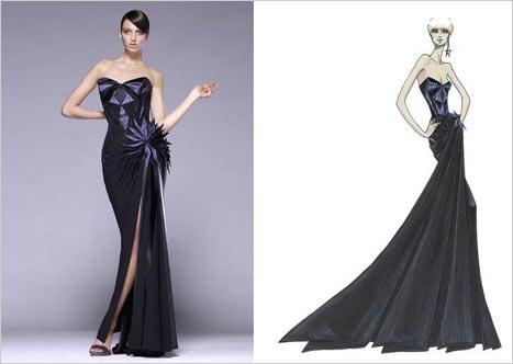 Versace Siyah Straplez Gece Elbisesi Modeli