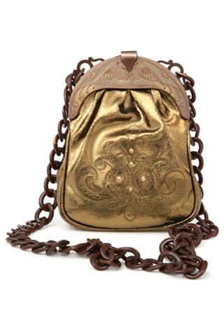 Anna Sui Yaldızlı Deri Çanta