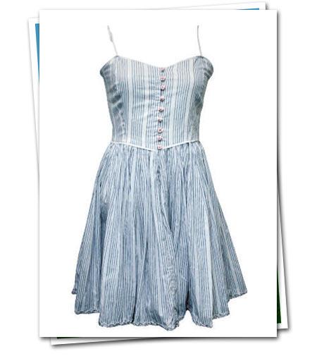 mavi beyaz yazlık elbise
