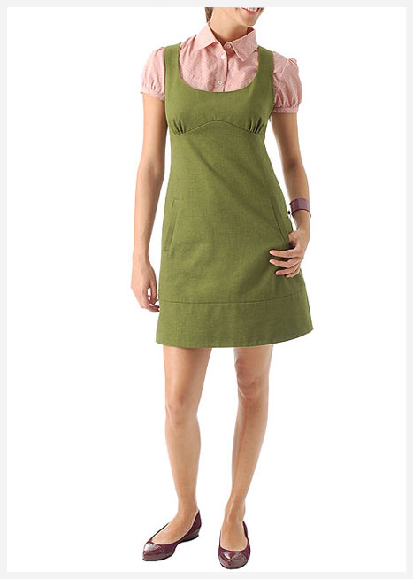 mango gunluk yeşil elbise
