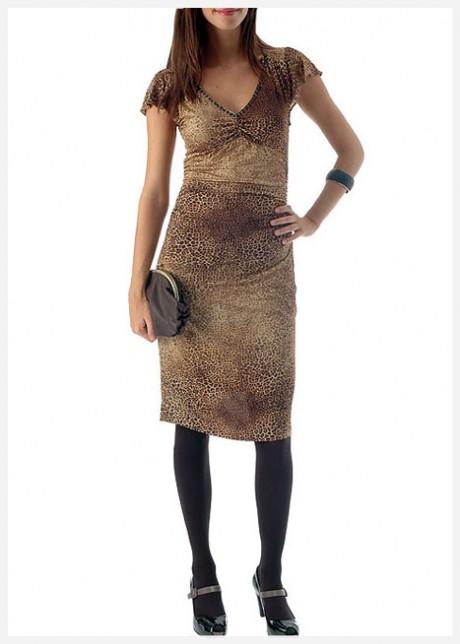 Kaplan Desenli Elbise Modeli