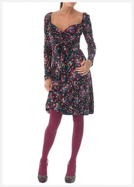 Uzun Kollu Dizüstü Elbise Modeli