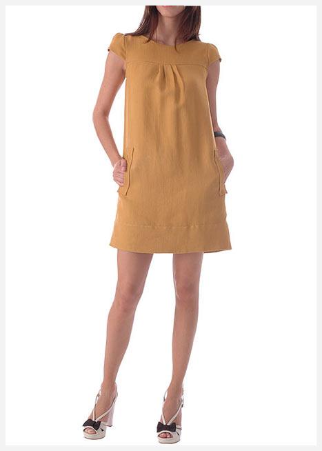 mango sari mini elbise