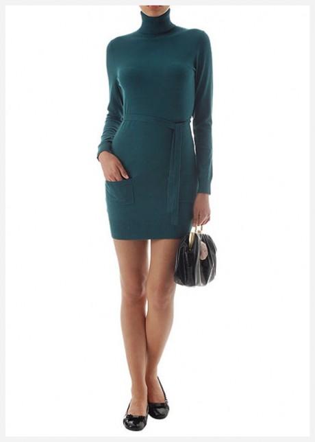 Yeşil Triko Elbise