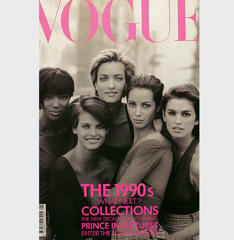 1989 - Linda, Naomi ve Christy Vogue'nun kapağında