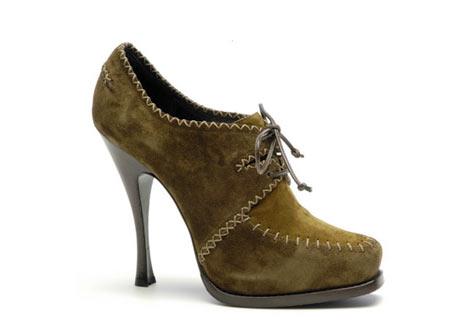 Donna Karan Ayakkabı Bot Kahverengi Süetten ve Bağcıklı