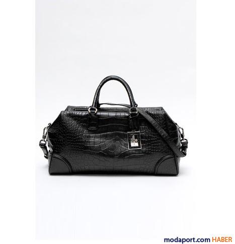 Giorgio Armani - Timsah baskılı iki saplı çanta