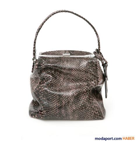 Calvin Klein - Yılan derisi çanta