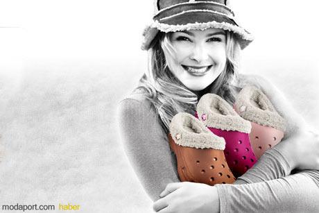 Kışlık Crocs Bayan Ayakkabı ve Terlik Modelleri Rengarenk
