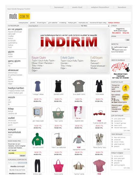 Online Alışveriş sitesi Mudo.com.tr
