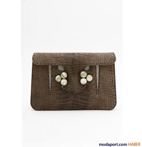 Fendi - Timsah derisi el çantası