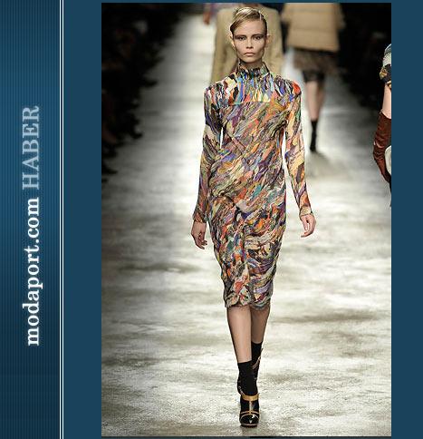 Dries Van Noten Kapalı Yakalı Elbise