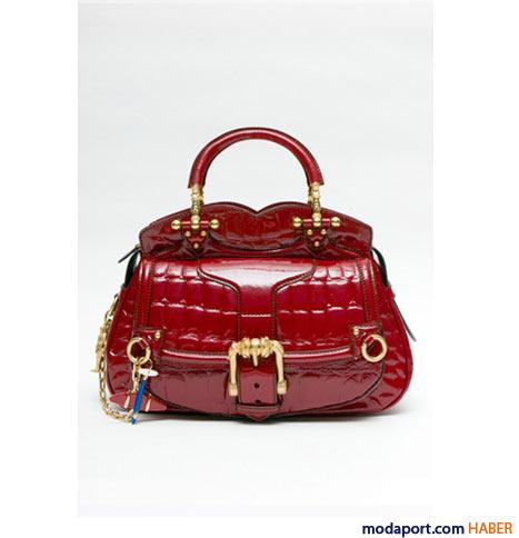 Alexander McQueen - Timsah baskı Legend çanta