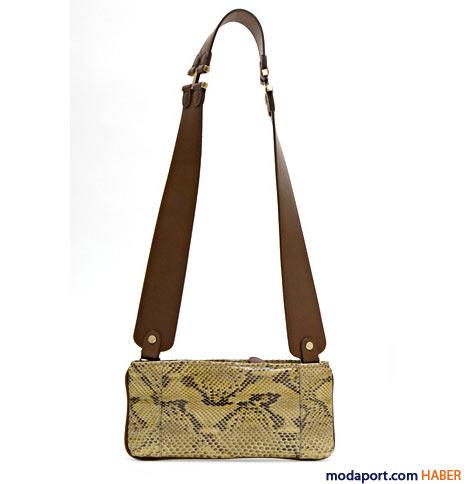 Marni - Deri askılı yılan derisi çanta