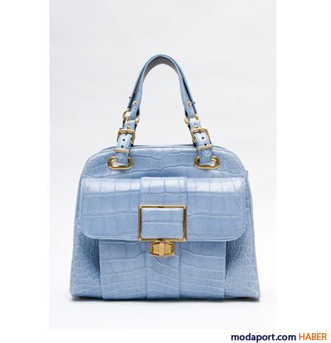 Balenciaga - Timsah mavi el çantası
