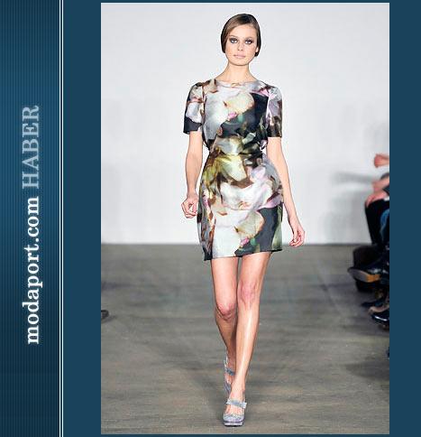 Behnaz Sarafpour Mini İpek Elbise