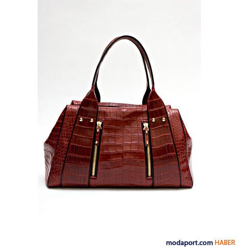 Missoni - Timsah desenli çanta