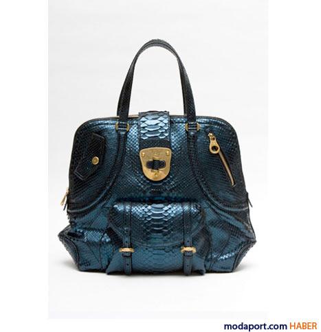 Alexander McQueen - Yılan derisi Novak çanta