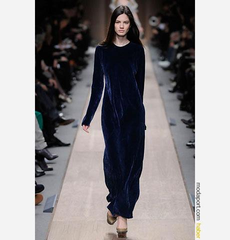 Stella Mc Cartney kadife uzun elbise
