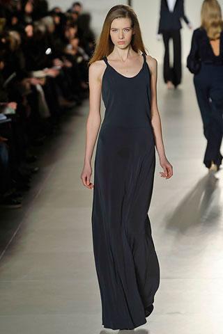 Tommy Hilfiger askılı uzun siyah elbise