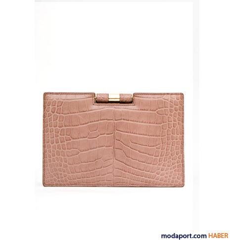 Yves Saint Laurent - Timsah desenli Muse el çantası