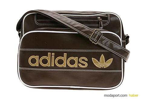 Adidas askılı kahverengi çanta