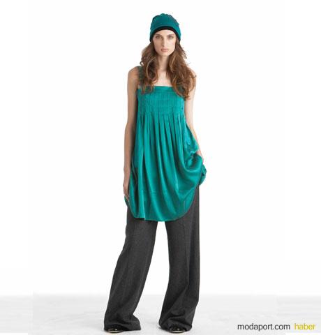 DKNY Jeans Yeşil Askılı Tunik ve Antrasit Renkta Pantalon